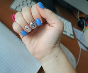 designed, nails, and manicure image