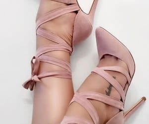 high heels, pink, and rose image