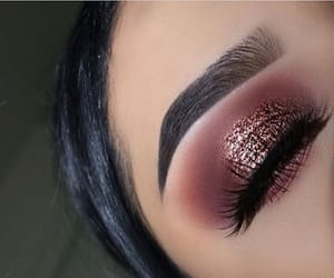 eyes, brows, and glitter image