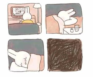 sad, alone, and comic image