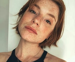 freckle, freckles, and ginger image