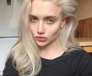 blondie, green eyes, and no makeup image