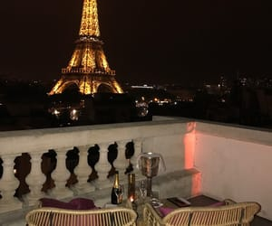paris, travel, and night image
