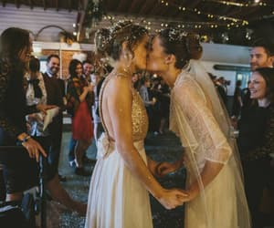 lesbian, wedding, and love image