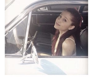 ariana grande, car, and red hair image