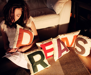 Dream, girl, and pillow image