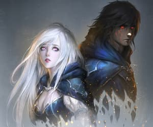 art, couple, and fantasy image