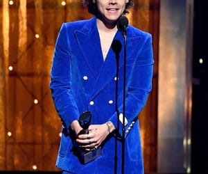 award, blue, and man image