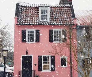pink, house, and winter image