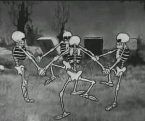 bones, cartoon, and dark image