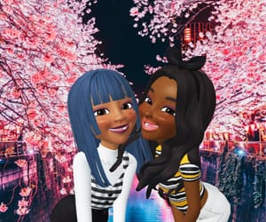 bff, flowers, and heart image