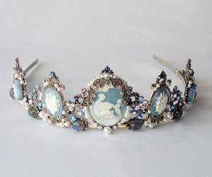 crown, blue, and tiara image