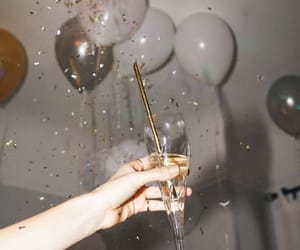 party, balloons, and champagne image