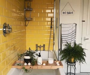 bathroom, yellow, and candle image
