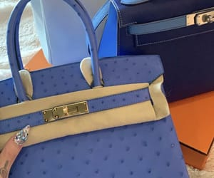 bags, blue, and hermes image