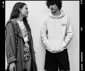black and white, photoshoot, and stranger things image