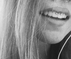 piercing, septum, and smile image