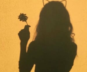 yellow, shadow, and girl image