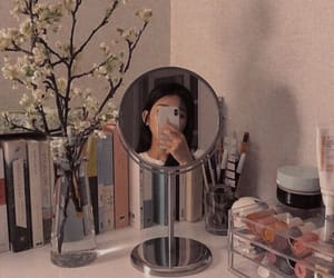 aesthetic, girl, and mirror image