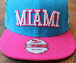 Miami, pink, and cap image