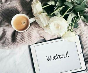 weekend, coffee, and flowers image