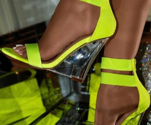 neon, shoes, and wedges image