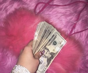 pink, aesthetic, and money image