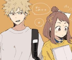 anime, couple, and boku no hero academia image