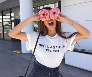 donuts, fashion, and girl image
