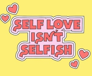 positive, selflove, and love image