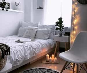 bedroom, lights, and room image