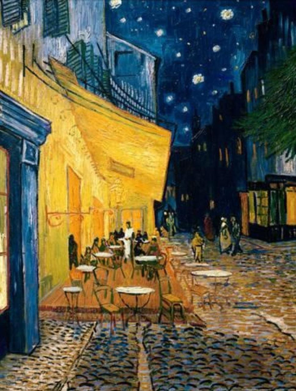 Vincent Van Gogh Terrasse De Café La Nuit On We Heart It