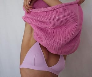 pink, bra, and sweater image