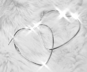 earrings, hearts, and white image