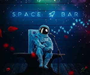astronaut, nasa, and sing image