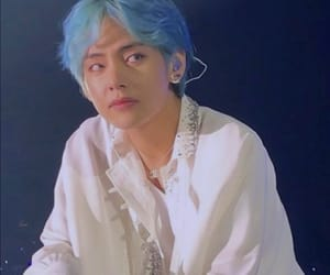 bts, taehyung, and blue image