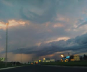 city, clouds, and highway image