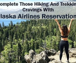 cheap flights, alaska airlines, and hiking and trekking image