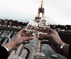 paris, couple, and travel image