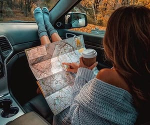 girl, travel, and autumn image