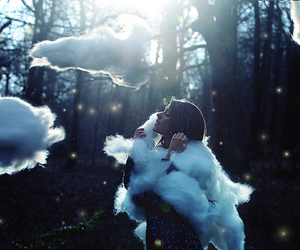girl, clouds, and photography image