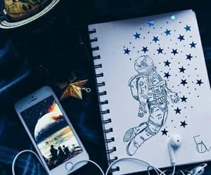 drawing, art, and stars image