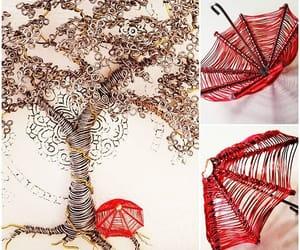 art, wire, and bonsai tree image