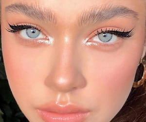 blush, lipgloss, and eyeliner image