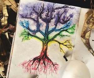 arbol, arcoiris, and dibujo image