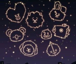 night, pretty, and stars image