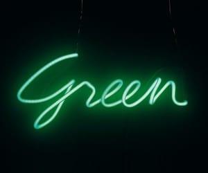 green, neon, and sayings image