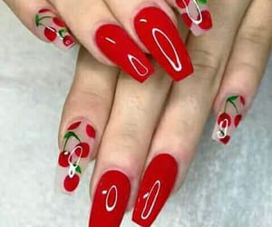 beautiful, cherry, and red image