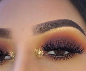 gold, inspo, and makeup image