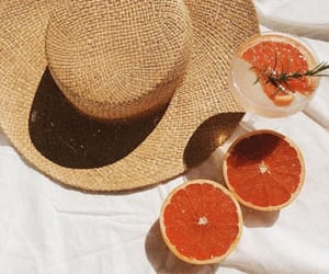 fruit, hat, and summer image